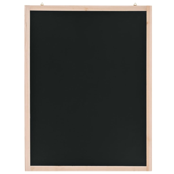 vidaxl tableau noir mural bois de c dre 60 x 80 cm tableau noir adh sif creavea. Black Bedroom Furniture Sets. Home Design Ideas