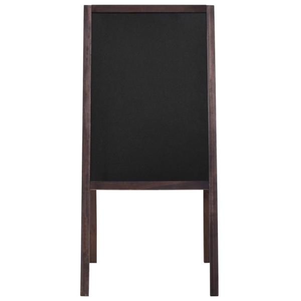 vidaxl tableau noir double face bois de c dre autoportant 40 x 60 cm tableau noir adh sif. Black Bedroom Furniture Sets. Home Design Ideas
