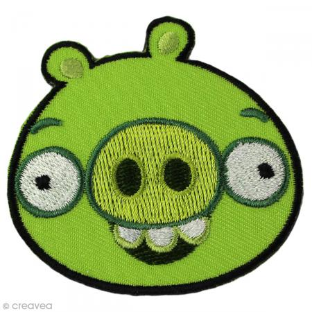 Ecusson brod thermocollant angry birds sbire cochon - Cochon angry bird ...