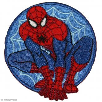 Ecusson brodé thermocollant - Spiderman - Spiderman rond