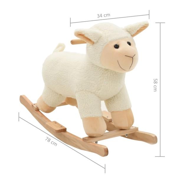 vidaxl mouton bascule peluche 78 x 34 x 58 cm blanc jouets mixtes creavea. Black Bedroom Furniture Sets. Home Design Ideas