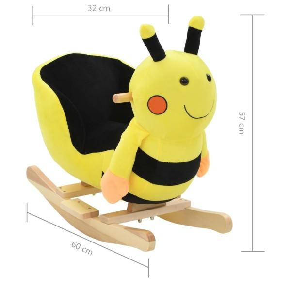 vidaxl bourdon bascule avec dossier peluche 60 x 32 x 57 cm jaune jouets mixtes creavea. Black Bedroom Furniture Sets. Home Design Ideas