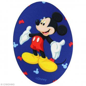 Ecusson imprimé thermocollant - Mickey - Mickey fond bleu