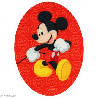 Ecusson imprimé thermocollant - Mickey - Mickey fond logo