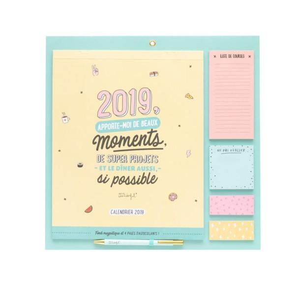 Calendrier Magnétique 2019 Apporte-moi de beaux moments Mr Wonderful - Photo n°1