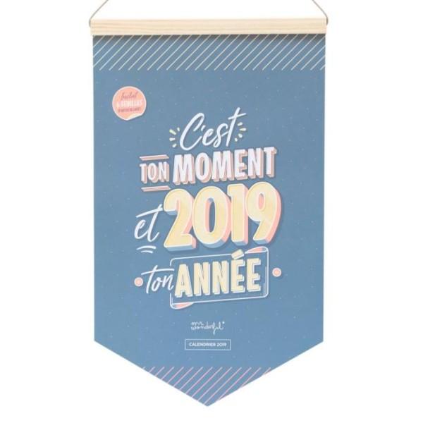 Calendrier mural 2019 C'est ton moment Mr Wonderful 24x40cm - Photo n°1