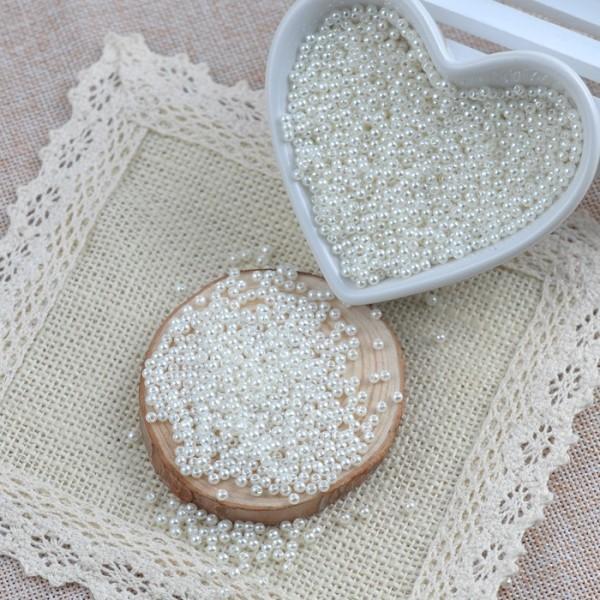 100 Perles imitation Brillant 3mm Couleur Blanc Creation Bijoux, Collier ... - Photo n°2