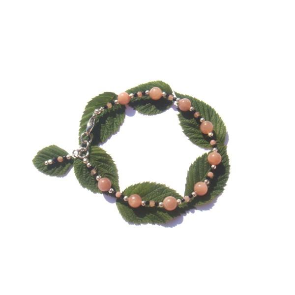 bracelet pierre de soleil et spinelle noir 18 18 7 cm max bracelet lithoth rapie creavea. Black Bedroom Furniture Sets. Home Design Ideas
