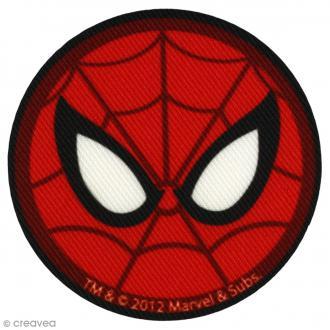Ecusson imprimé thermocollant - Spiderman - Spiderman rond yeux