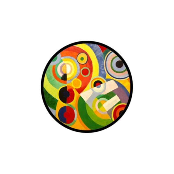 1 Cabochon Verre 25 mm, Cabochon Rond, Art Abstrait 1 - Photo n°1
