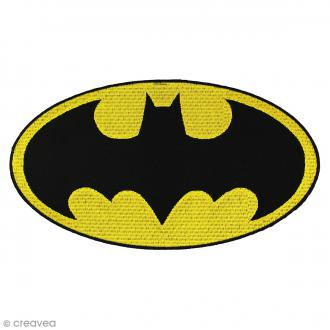 Ecusson brodé thermocollant - Batman - Logo Batman ovale