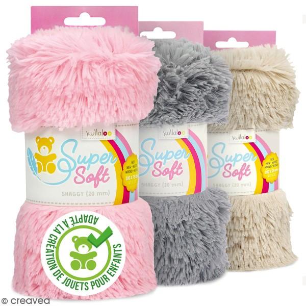 Coupon de tissu peluche Shaggy - Poils longs 20 mm - 75 x 100 cm - Photo n°1