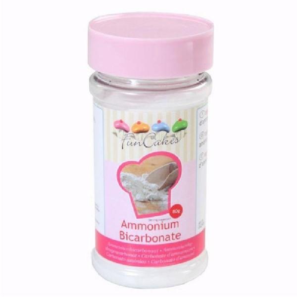 Bicarbonate d'ammonium pour pâtisserie FunCakes - 80 g - Photo n°1