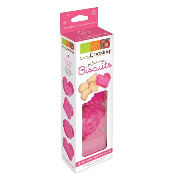 Kit 4 découpoirs-éjecteurs pour Biscuits - Photo n°2