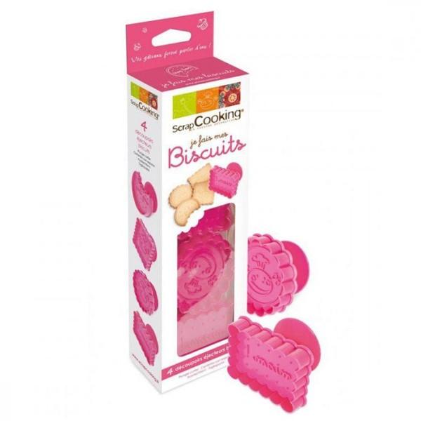 Kit 4 découpoirs-éjecteurs pour Biscuits - Photo n°1