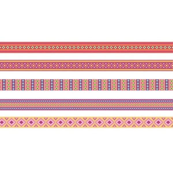 5 Masking Tapes 5 m - motifs Alpaga - Photo n°1