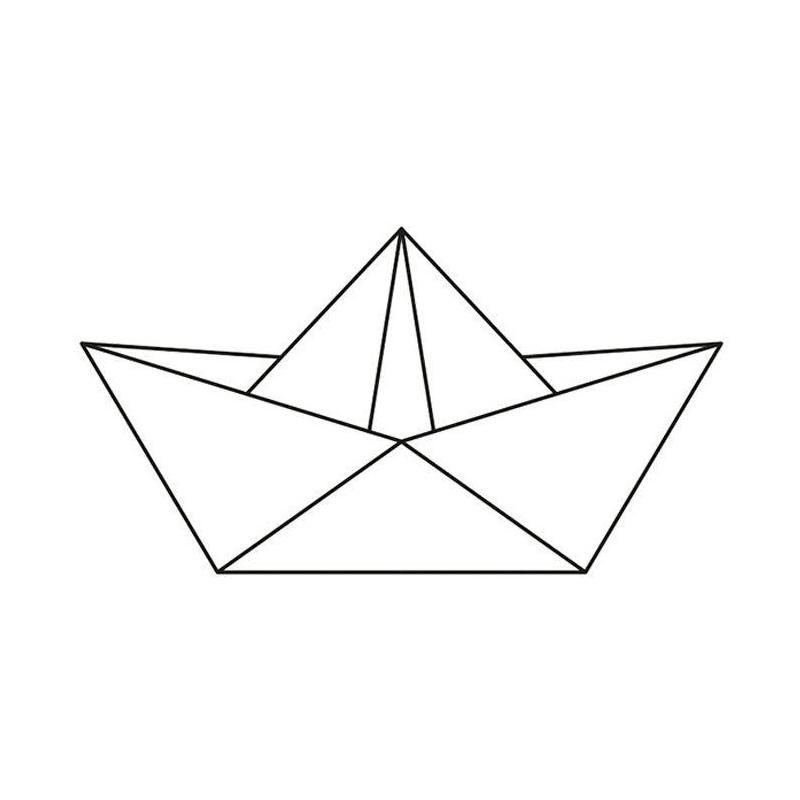 Tampon Bois 6 6 X 3 7 Cm Bateau Origami Tampon Bois Creavea