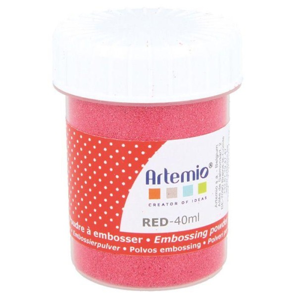 Poudre à embosser 40 ml - Rouge - Photo n°1