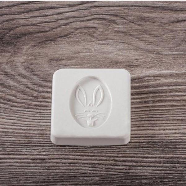 Tampons caoutchouc pour savon à faire soi-même x 2 - Lapin & carotte - Photo n°3