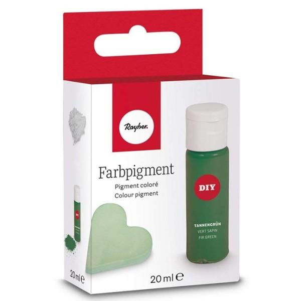 Pigment en poudre 20 ml pour peinture sur céramique - Vert sapin - Photo n°1