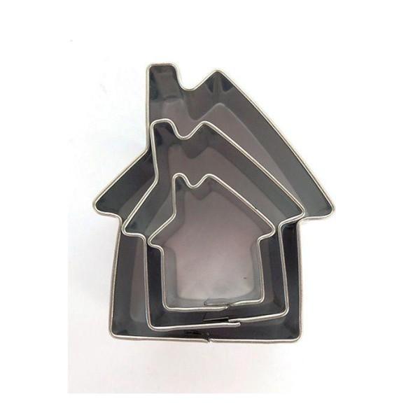 3 mini emporte-pièces inox - Maisons - Photo n°1