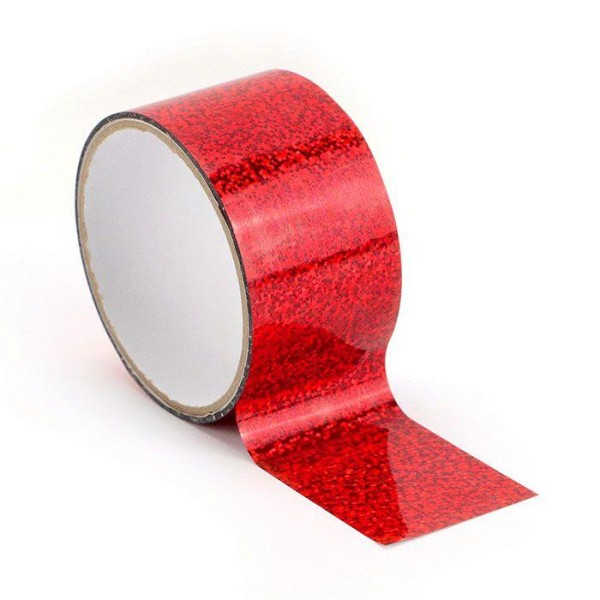 Queen tape holographique 8 m x 4,8 cm - Rouge - Photo n°1