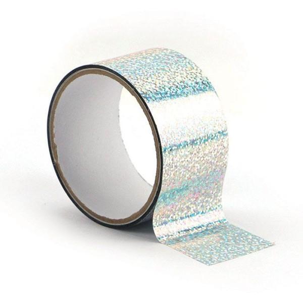 Queen tape holographique 8 m x 4,8 cm - Argenté - Photo n°1