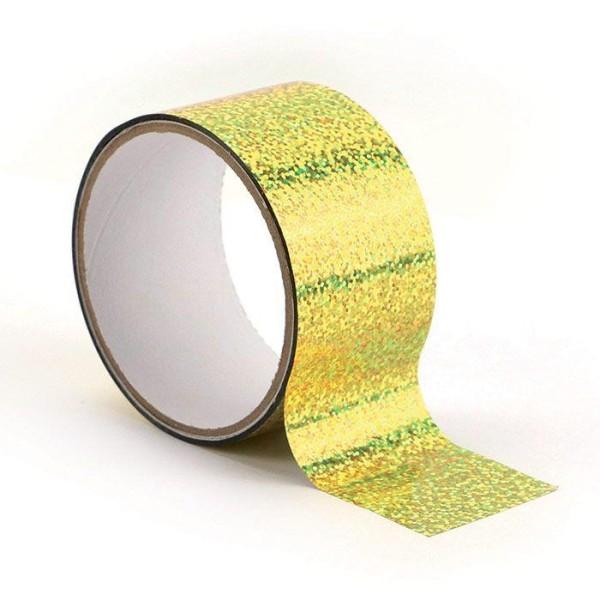 Queen tape holographique 8 m x 4,8 cm - Doré - Photo n°1