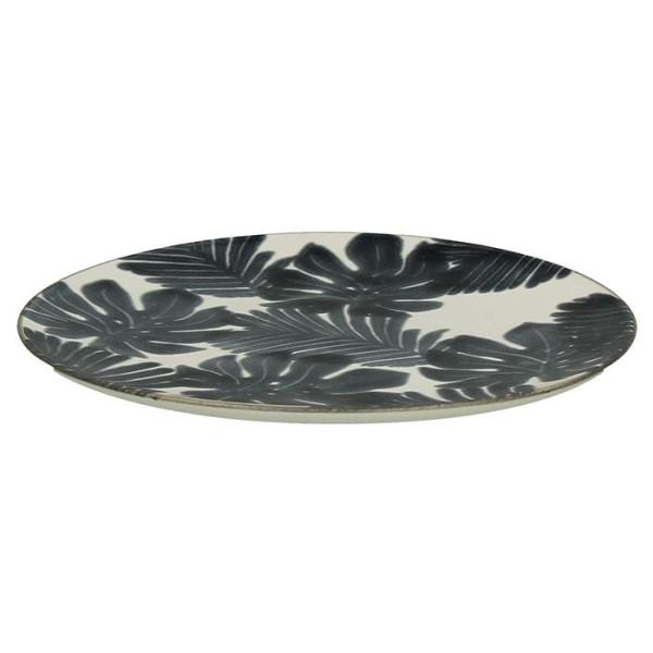 assiette dessert xanadu en fa ence noir et blanc 21 cm assiettes et vaisselle en. Black Bedroom Furniture Sets. Home Design Ideas