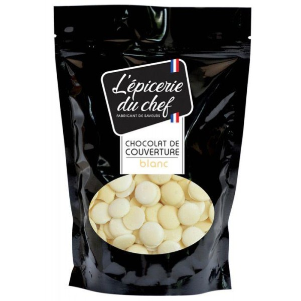 Palets de chocolat de couverture 1 kg - blanc - Photo n°1