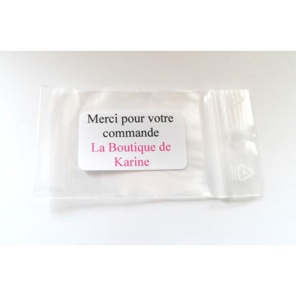 40 PERLES STRASS Cabochon GOUTTE à Coller Acrylique Transparent Reflets Multicolores 10 x 14 mm - Photo n°4