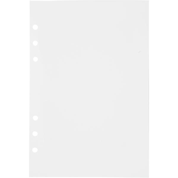Pages pour planner - Blanches - 14,2 x 21 cm - 36 pcs - Photo n°1