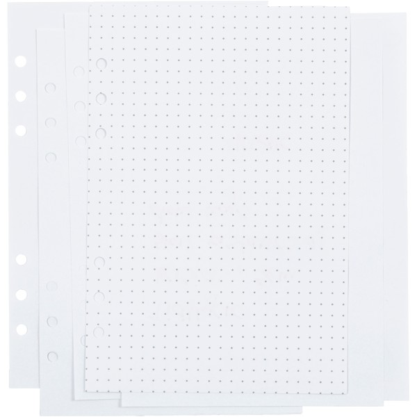 Pages pour planner - A pointillés - 14,2 x 21 cm - 36 pcs - Photo n°1
