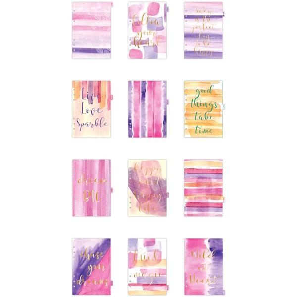 Intercalaires mensuels pour planner - Aquarelle - 12 pages - Photo n°1