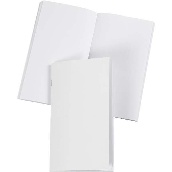 Petit carnet blanc à décorer - Pages vierges - 9,5 x 16,6 cm - 32 pages - Photo n°1