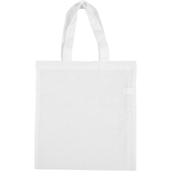 Tote bag en tissu à décorer - 28 x 30 cm - Photo n°1