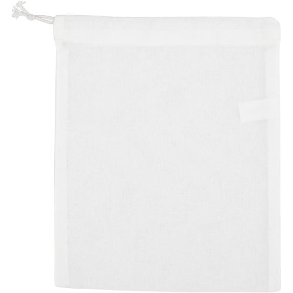 Pochette à cordon en tissu à décorer - 21 x 25 cm - Photo n°1