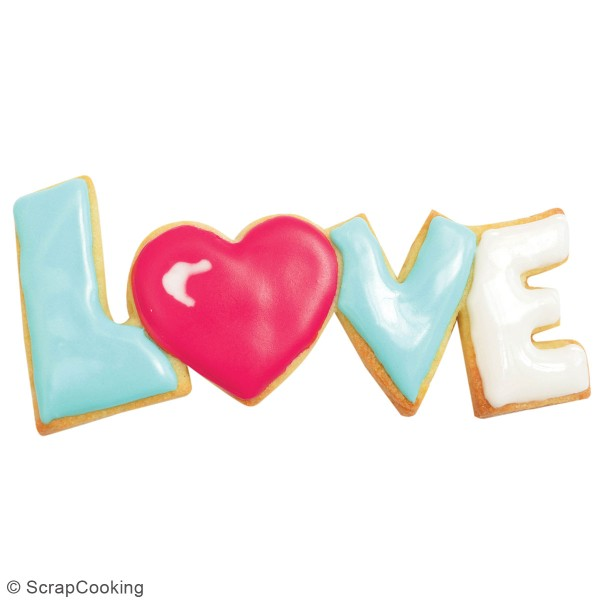 Découpoir en inox - Love - 13 x 5,5 cm - Photo n°2