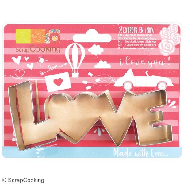 Découpoir en inox - Love - 13 x 5,5 cm - Photo n°3