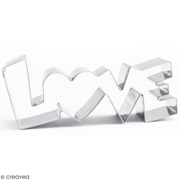 Découpoir en inox - Love - 13 x 5,5 cm - Photo n°1