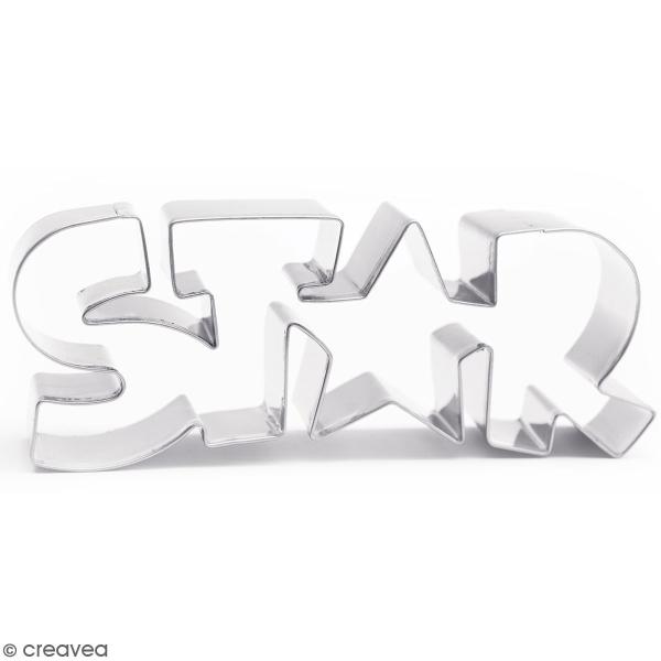 Découpoir en inox - Star - 14,5 x 5 cm - Photo n°1