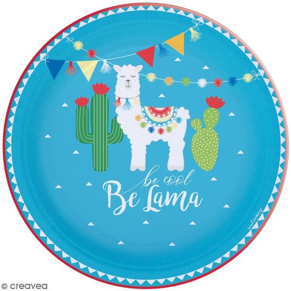 Assiettes en carton - Lama - 23 cm - 8 pcs - Photo n°1