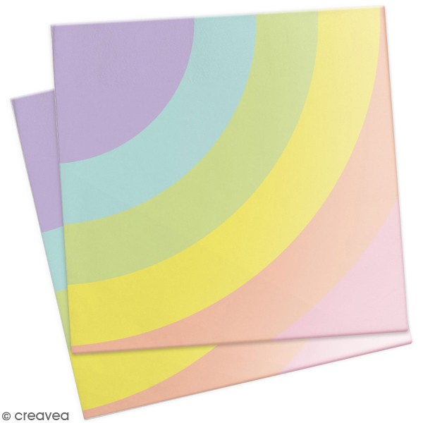 Serviettes en papier - Arc-en-ciel - 33 x 33 cm - 20 pcs - Photo n°1