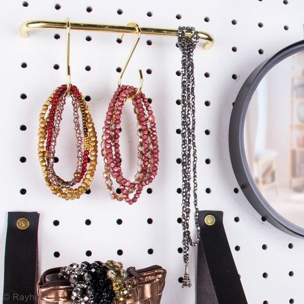Accessoire pegboard - Broches en métal doré - 5 cm - 4 pcs - Photo n°3