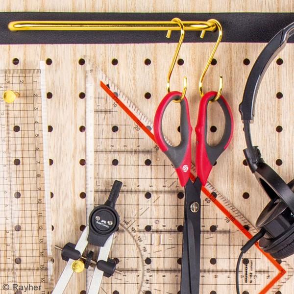 Accessoire pegboard - Fixation poignée en métal doré - 23 x 3 cm - 1 pce - Photo n°3