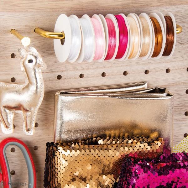 Accessoire pegboard - Fixation poignée en métal doré - 23 x 3 cm - 1 pce - Photo n°5