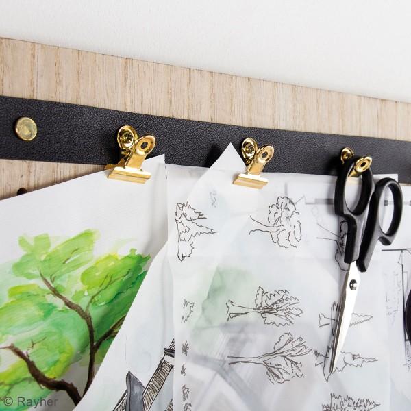 Accessoire pegboard - Pince-clip en métal doré - 2 x 2,5 cm - 3 pcs - Photo n°4