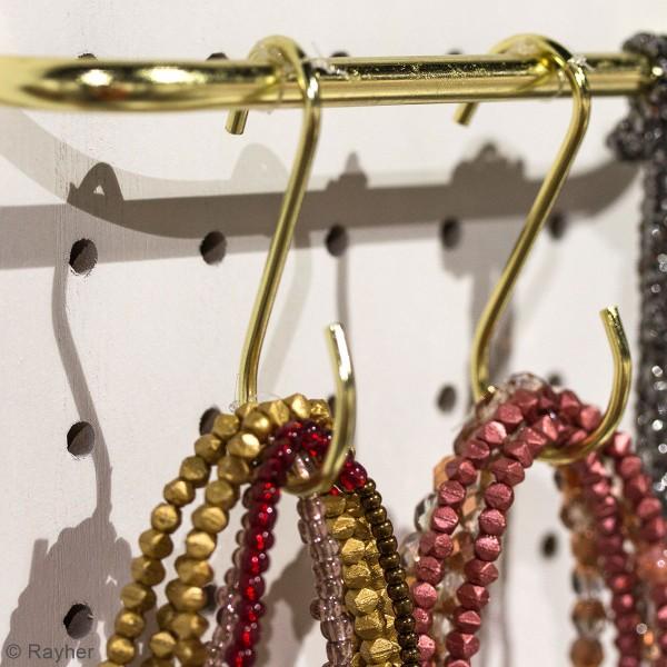 Accessoire pegboard - Crochet S en métal doré - 6,3 cm - 4 pcs - Photo n°2