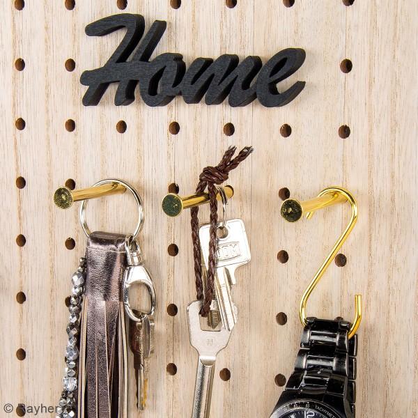 Accessoire pegboard - Crochet S en métal doré - 6,3 cm - 4 pcs - Photo n°4