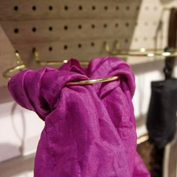 Accessoire pegboard - Fixation ronde en métal doré - 10 cm - 1 pce - Photo n°3